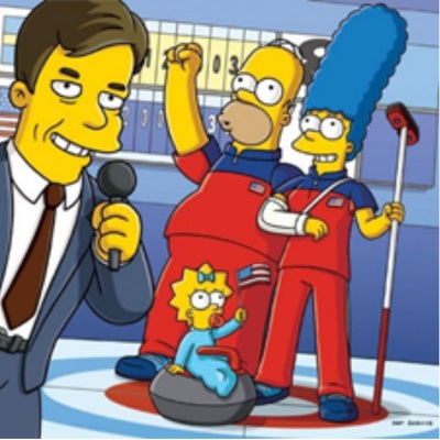 Simpsons Curling